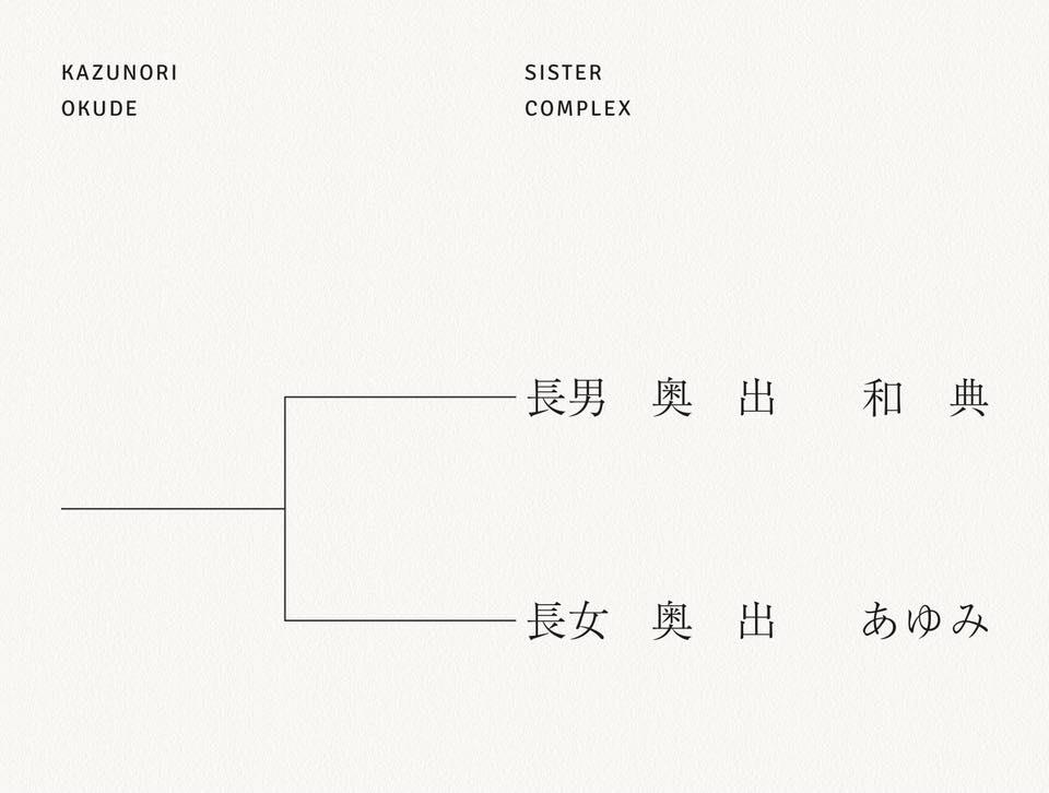 奥出和典 写真集「SISTER COMPLEX」発売